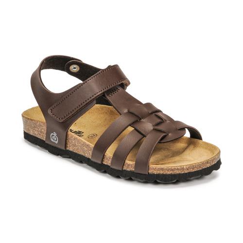 Chaussures Garçon Sandales et Nu-pieds Citrouille et Compagnie JANISOL Marron foncé