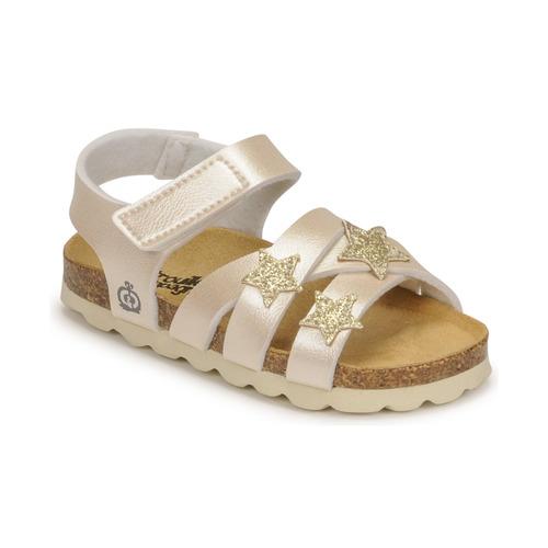 Chaussures Fille Sandales et Nu-pieds Citrouille et Compagnie OKILIA Doré