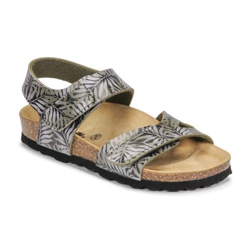 Chaussures Enfant Sandales et Nu-pieds Citrouille et Compagnie BELLI JOE Imprimé feuille