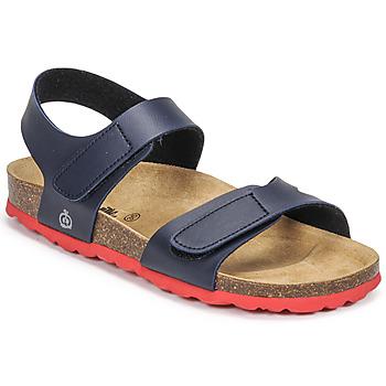 Chaussures Garçon Sandales et Nu-pieds Citrouille et Compagnie BELLI JOE Marine/rouge