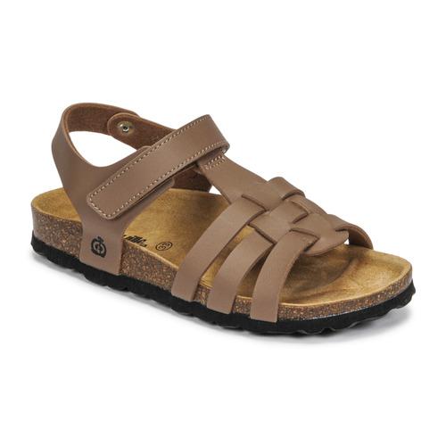Chaussures Garçon Sandales et Nu-pieds Citrouille et Compagnie JANISOL Marron taupe