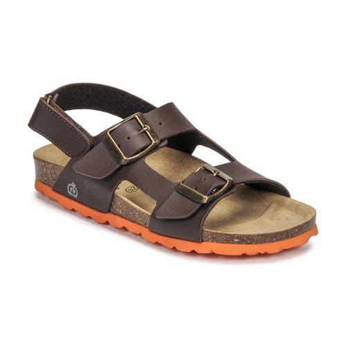 Chaussures Garçon Sandales et Nu-pieds Citrouille et Compagnie KELATU Marron