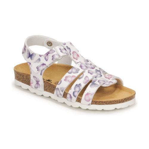 Chaussures Fille Sandales et Nu-pieds Citrouille et Compagnie MALIA Blanc imprimé