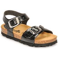 Chaussures Fille Sandales et Nu-pieds Citrouille et Compagnie RELUNE Noir serpent