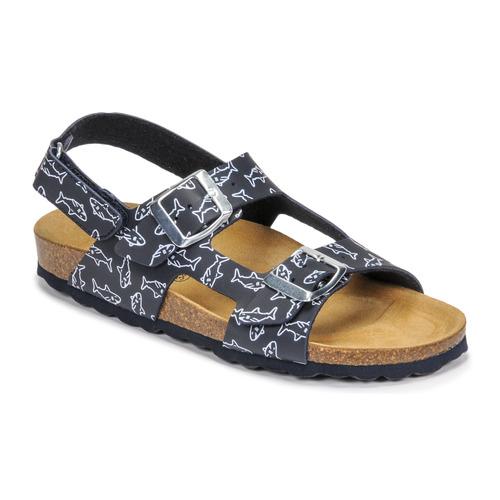 Chaussures Garçon Sandales et Nu-pieds Citrouille et Compagnie KELATU Marine imprimé