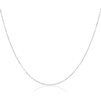 Montres & Bijoux Puces En Or 375/1000 Blanc Cleor Chaîne  en Argent 925/1000 Blanc