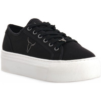 Chaussures Femme Baskets basses Windsor Smith RUBY CANVAS BLACK Nero