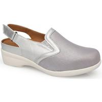Chaussures Femme Sabots Calzamedi SANDALES  JUANETES ELASTICA PLATINE