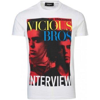 Vêtements Homme T-shirts manches courtes Dsquared S74GD0475 Blanc