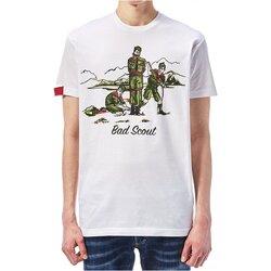 Vêtements Homme T-shirts manches courtes Dsquared S74GD0361 Blanc