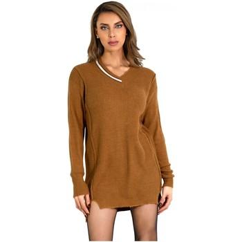 Vêtements Femme Robes courtes Kebello Robe Pull en laine Taille : F Marron S Marron