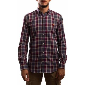 Vêtements Homme Chemises manches longues Klout CAMISA REGULAR CUADRO gris