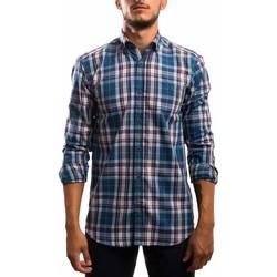 Vêtements Homme Chemises manches longues Klout CAMISA REGULAR CUADRO bleu
