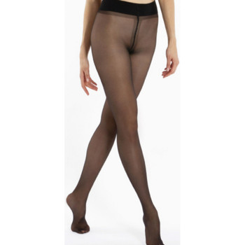 Sous-vêtements Femme Collants & bas Le Bourget Collant 20D Transparent Satiné NOIR
