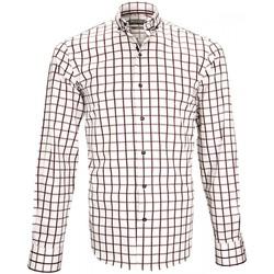Vêtements Homme Chemises manches longues Emporio Balzani chemise sport mattonella blanc Blanc