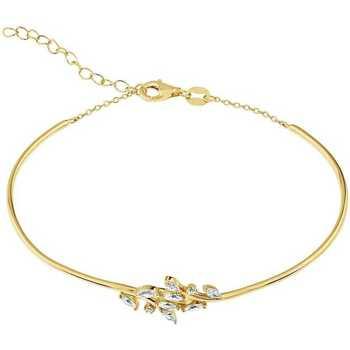 Montres & Bijoux Bracelets Cleor Jonc  en Argent 925/1000 Jaune et Oxyde Jaune