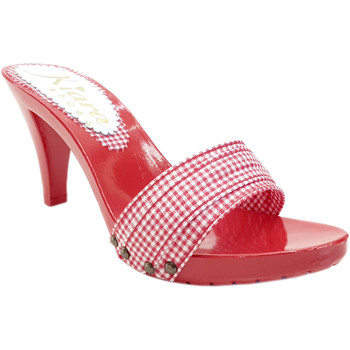 Chaussures Femme Mules Kiara Shoes K6601 Pin-Up Rouge