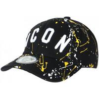 Accessoires textile Casquettes Hip Hop Honour Casquette ICON Jaune et Noire Taguee Streetwear Baseball Noir