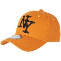 Accessoires textile Casquettes Hip Hop Honour Casquette NY Orange et Noire Tendance Visiere Baseball Stazky Orange