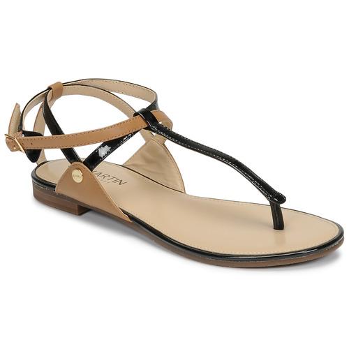 Chaussures Femme Sandales et Nu-pieds JB Martin GENIE Noir