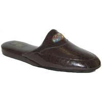 Chaussures Homme Chaussons Falcade PANTOUFLES DE CHAMBRE  - 516 T MORO Marron