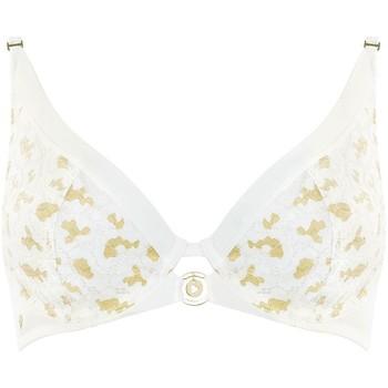 Sous-vêtements Femme Corbeilles & balconnets Morgan Soutien-gorge à armatures ivoire Jade Blanc