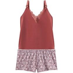 Vêtements Femme Pyjamas / Chemises de nuit Pommpoire Top-short caramel Espérance Marron
