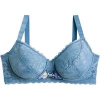 Sous-vêtements Femme Corbeilles & balconnets Pommpoire Soutien-gorge grand maintien bleu Oh La La Bleu