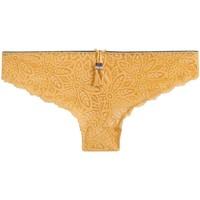 Sous-vêtements Femme Tangas Pommpoire Tanga jaune Zazie Jaune