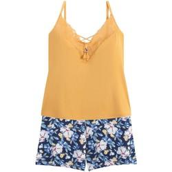 Vêtements Femme Pyjamas / Chemises de nuit Pommpoire Top-short jaune Zazie Jaune