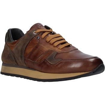 Chaussures Homme Baskets basses Exton 591 Marron