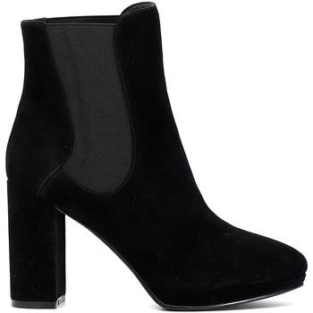 Chaussures Femme Bottines Café Noir MD541 Noir