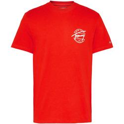 Vêtements Homme T-shirts manches courtes Tommy Jeans DM0DM08350 Rouge