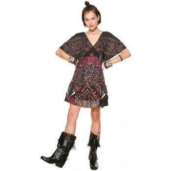 Vêtements Femme Robes courtes Desigual Robe Femme Gina Noir et Motifs (rft)18WWVWA0 Noir