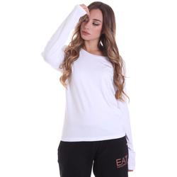 Vêtements Femme T-shirts manches longues Ea7 Emporio Armani 6HTT04 TJ28Z Blanc