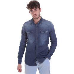 Vêtements Homme Chemises manches longues Gaudi 021GU46001 Bleu