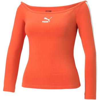 Vêtements Femme T-shirts manches longues Puma 530376 Orange