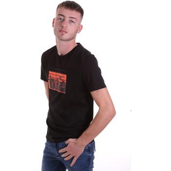 Vêtements Homme T-shirts manches courtes Antony Morato MMKS01880 FA100144 Noir