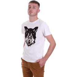 Vêtements Homme T-shirts manches courtes Antony Morato MMKS01878 FA100144 Blanc