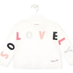 Vêtements Fille T-shirts manches longues Losan 026-1012AL Blanc