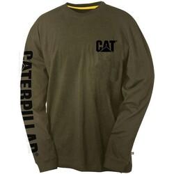 Vêtements Homme T-shirts manches longues Caterpillar Trademark Vert foncé
