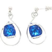 Montres & Bijoux Femme Boucles d'oreilles Andrea Marazzini Boucles d'oreilles Andréa Marazzini New Drop Blue Delite Blanc