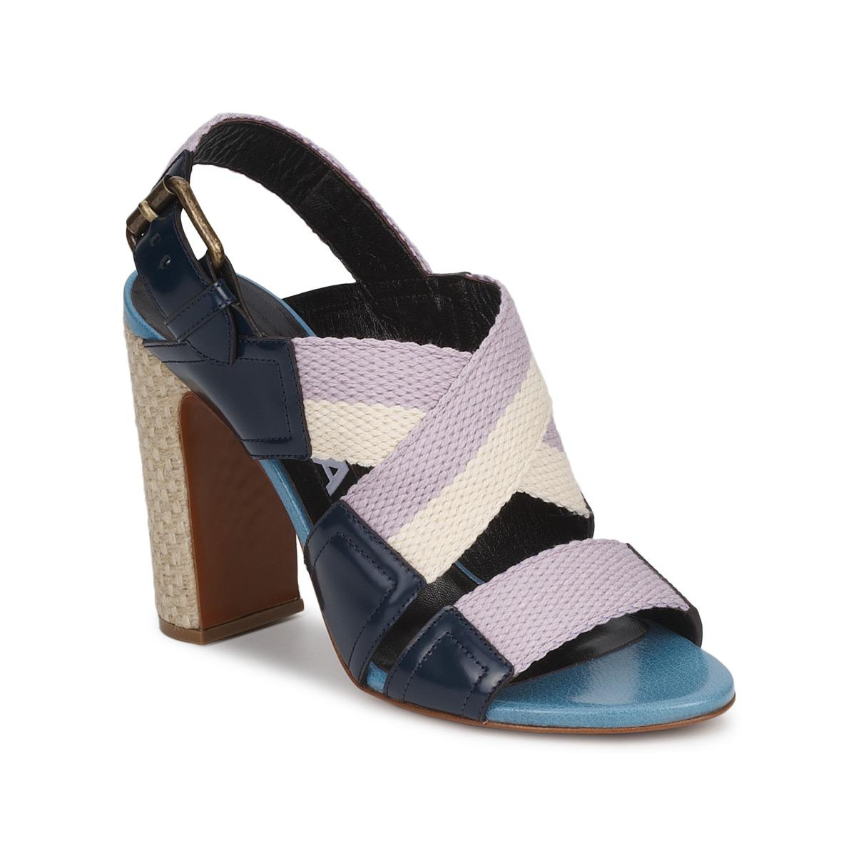 Sandale Rochas NASTR Noir/Violet/Ecru