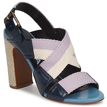 Sandale Rochas NASTR Noir/Violet/Ecru 350x350