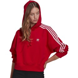 Vêtements Femme Sweats adidas Originals FELPA CON CAPPUCCIO ROSSA Rouge