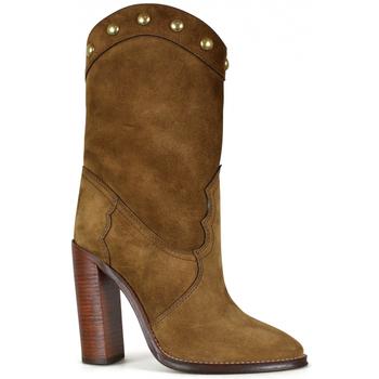 Chaussures Femme Bottes ville Saint Laurent  Marron