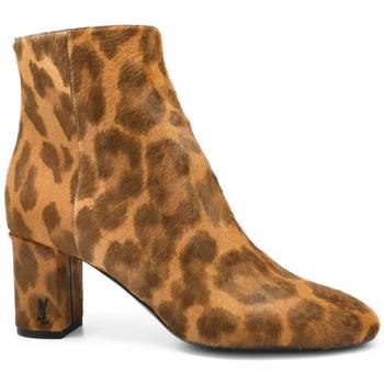 Chaussures Femme Bottines Saint Laurent  Marron