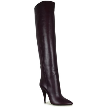 Chaussures Femme Cuissardes Saint Laurent  Bordeaux