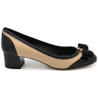 Chaussures Femme Escarpins Salvatore Ferragamo Escarpins Eva Leathe Beige