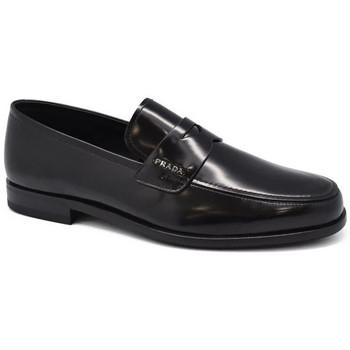 Chaussures Homme Mocassins Prada Mocassins en cuir Noir
